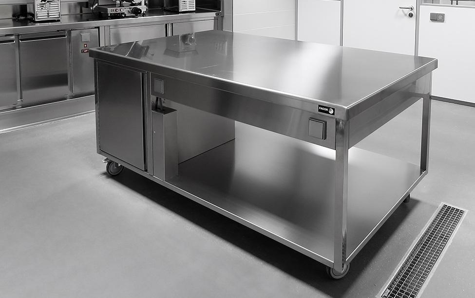 Muebles de acero inoxidable para cocina industrial - ETXE ...